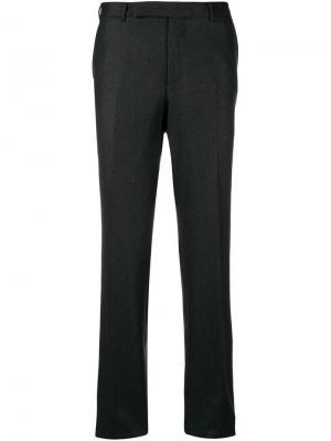 Удлиненные брюки строгого кроя Ermenegildo Zegna. Цвет: серый