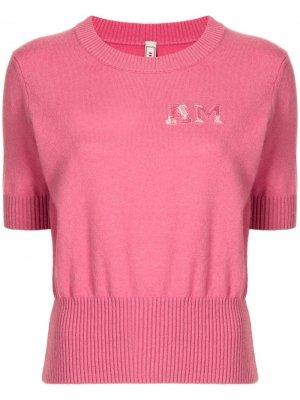 Кашемировый джемпер с короткими рукавами Antonio Marras. Цвет: розовый