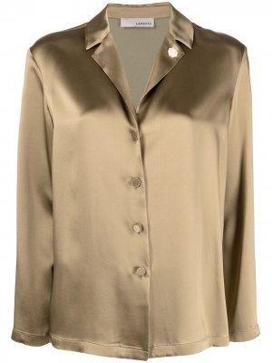 Куртка-рубашка в пижамном стиле Lardini. Цвет: зеленый