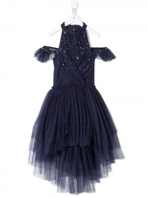 Пышное платье Fleur с пайетками Tutu Du Monde. Цвет: синий