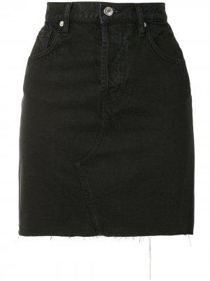 Джинсовая юбка с завышенной талией IRO. Цвет: черный