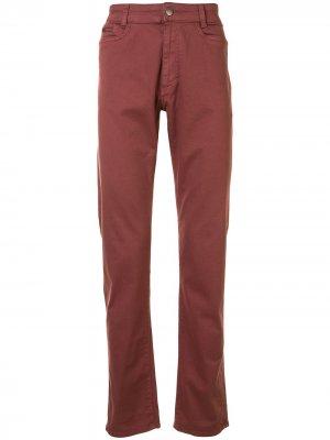 Прямые джинсы средней посадки Gieves & Hawkes. Цвет: красный