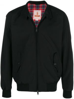 Mock neck zip front jacket Engineered Garments. Цвет: черный