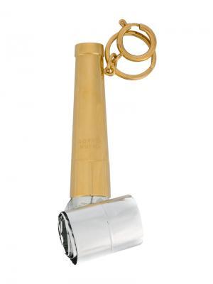 Брелок для ключей в виде гудка вечеринок Sophie Hulme. Цвет: металлический