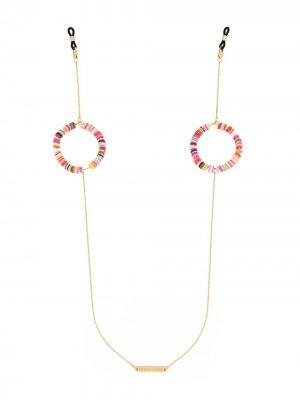 Цепочка для очков Candy Pop с бусинами Frame Chain. Цвет: розовый