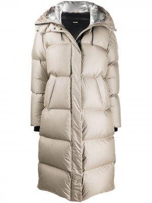 Длинное стеганое пальто Elaine Mackage. Цвет: нейтральные цвета