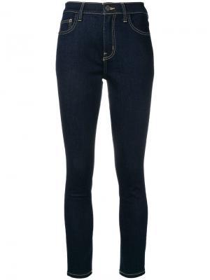 Укороченные облегающие джинсы Current/Elliott. Цвет: синий