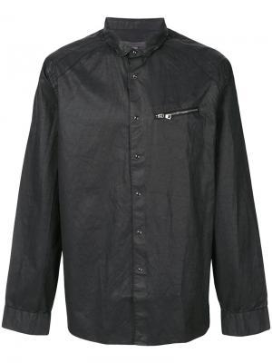 Приталенная рубашка с отделкой молниями John Varvatos. Цвет: черный