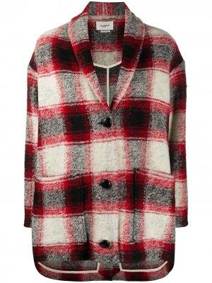 Куртка оверсайз в клетку Isabel Marant Étoile. Цвет: красный