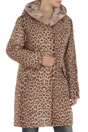 Куртка Loft. Цвет: леопардовый