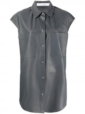 Рубашка с перфорацией IRO. Цвет: серый
