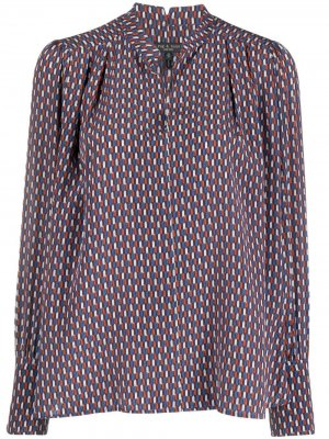 Рубашка с принтом Rag & Bone. Цвет: синий