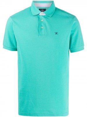 Рубашка-поло с вышитым логотипом Hackett. Цвет: зеленый