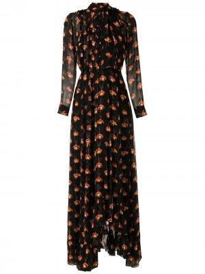Длинное платье Papilio с принтом Eva. Цвет: черный
