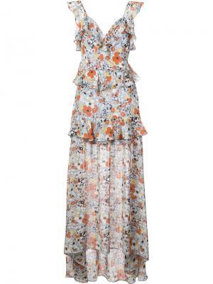 Платье макси Jewell Alexis. Цвет: розовый