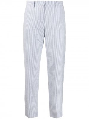 Укороченные брюки кроя слим в тонкую полоску Fabiana Filippi. Цвет: синий
