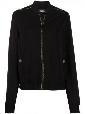 Куртка-бомбер с логотипом Karl Lagerfeld. Цвет: черный
