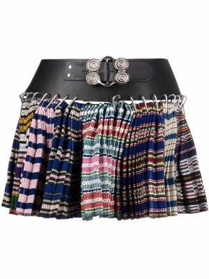 Плиссированная юбка мини Chopova Lowena. Цвет: черный