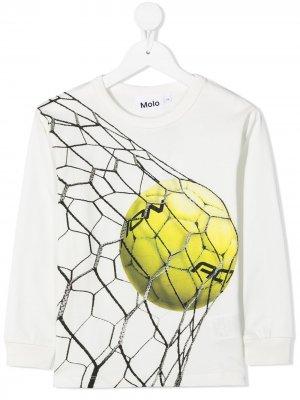Футболка Rez с длинными рукавами Molo. Цвет: белый