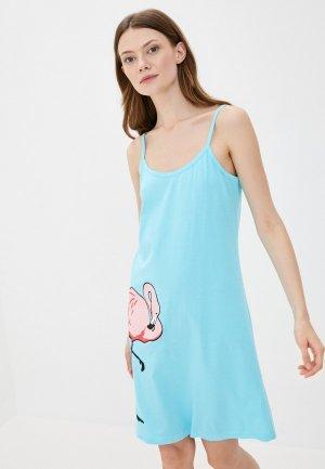 Сорочка ночная Winzor. Цвет: голубой