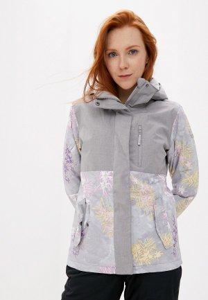Куртка горнолыжная Roxy. Цвет: серый