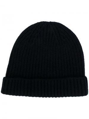 Классическая трикотажная шапка Cruciani. Цвет: черный