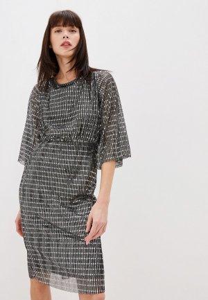 Платье Vila. Цвет: серебряный