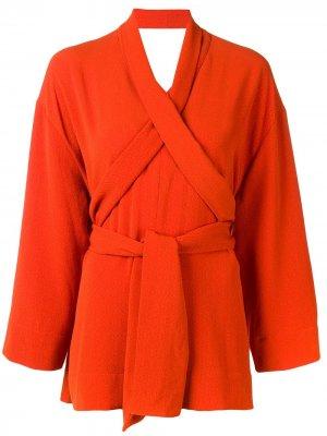 Блузка с запахом HENRIK VIBSKOV. Цвет: оранжевый