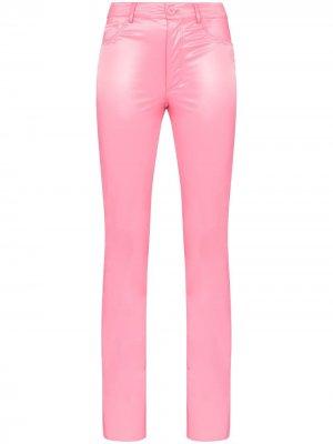 Латексные брюки Galleria Maisie Wilen. Цвет: розовый