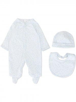 Комплект для новорожденного с принтом Kissy. Цвет: синий