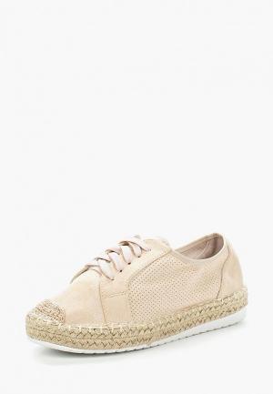 Эспадрильи Ideal Shoes. Цвет: бежевый