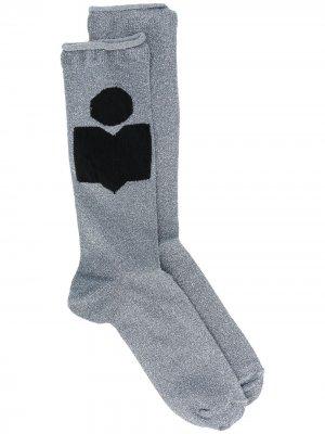 Носки тонкой вязки Isabel Marant. Цвет: синий