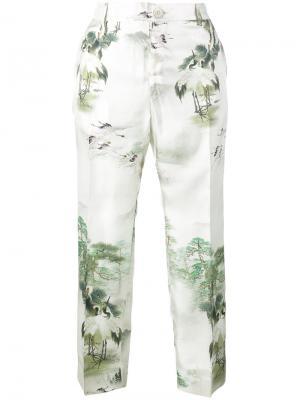 Пижамные брюки с Японским принтом F.R.S For Restless Sleepers. Цвет: телесный