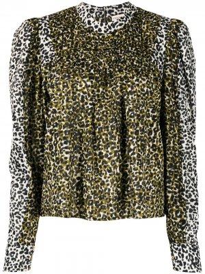 Блузка с леопардовым принтом Ulla Johnson. Цвет: зеленый