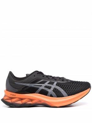 Кроссовки в стиле колор-блок с логотипом ASICS. Цвет: черный