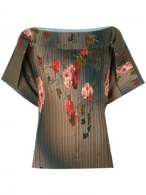 Блузка с цветочным узором Antonio Marras. Цвет: зеленый
