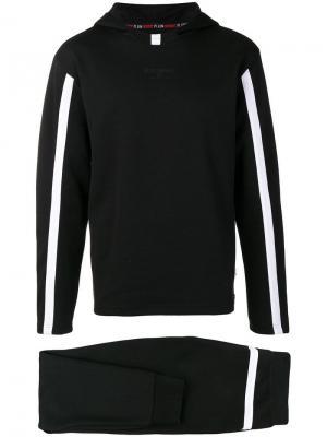 Спортивный костюм с полосками Plein Sport. Цвет: черный