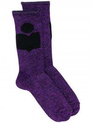 Носки тонкой вязки Isabel Marant. Цвет: фиолетовый