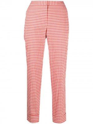 Укороченные брюки в клетку Pt01. Цвет: красный