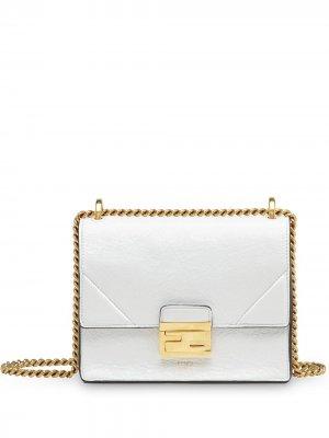 Маленькая сумка на плечо Kan U Fendi. Цвет: белый