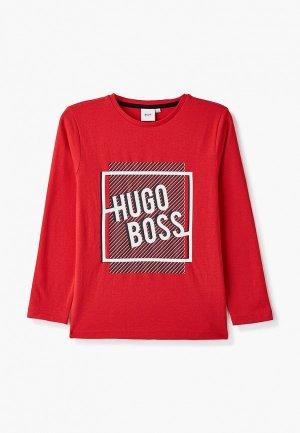 Лонгслив Boss. Цвет: красный