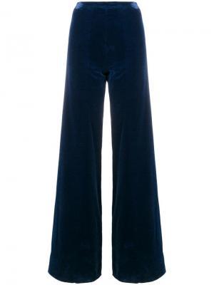 Расклешенные брюки на завышенной талии Emanuel Ungaro Pre-Owned. Цвет: синий