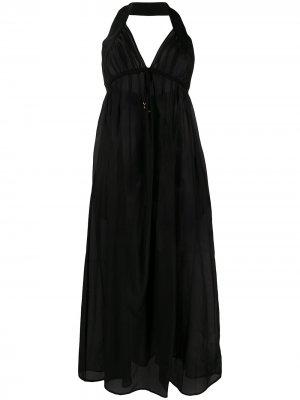 Полупрозрачное длинное платье Stella McCartney. Цвет: черный