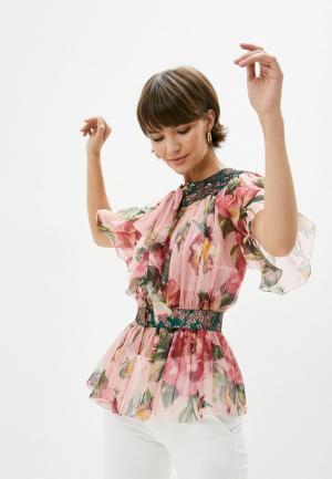 Блуза Dolce&Gabbana. Цвет: розовый