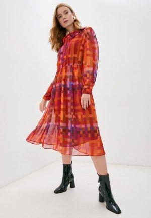 Платье Twinset Milano. Цвет: бордовый