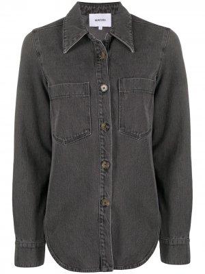 Рубашка на пуговицах с длинными рукавами Nanushka. Цвет: серый
