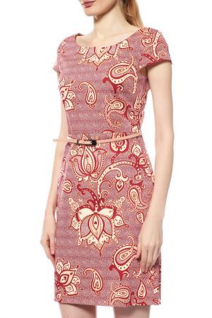 Платье Comma. Цвет: бордовый