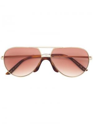 Солнцезащитные очки-авиаторы Gucci Eyewear. Цвет: металлик