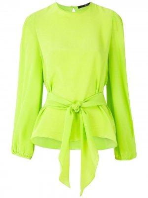 Блузка с завязками Eva. Цвет: зеленый