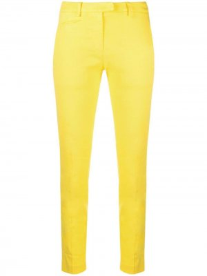 Cropped slim-fit trousers Dondup. Цвет: желтый